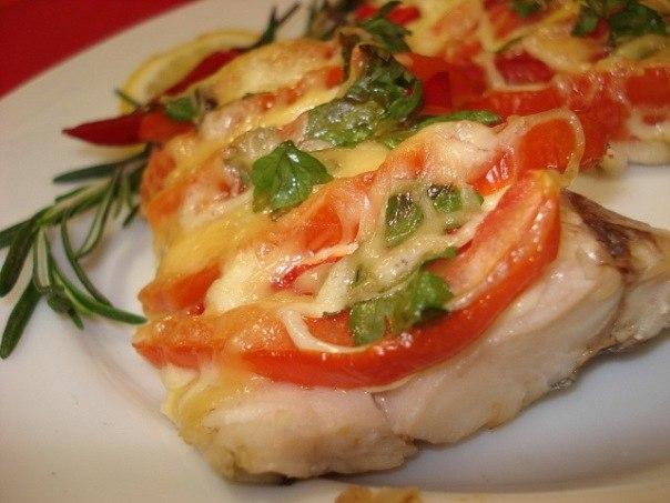 Филе рыбы по-гречески