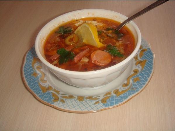 Суп - солянка с грибами