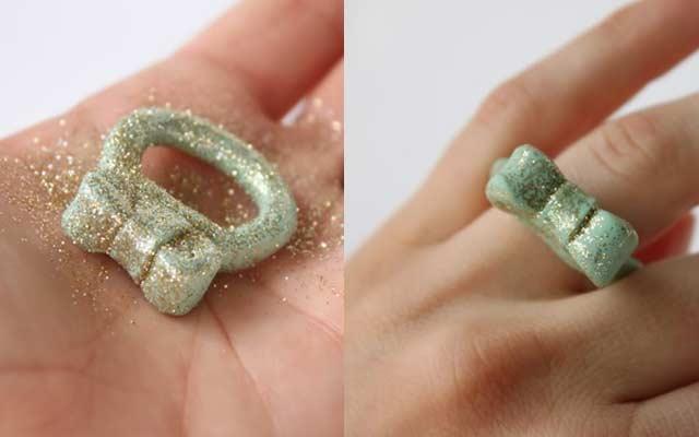 Как сделать кольцо из полимерной глины
