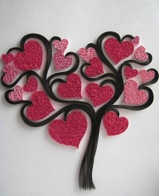Дерево в технике квиллинг