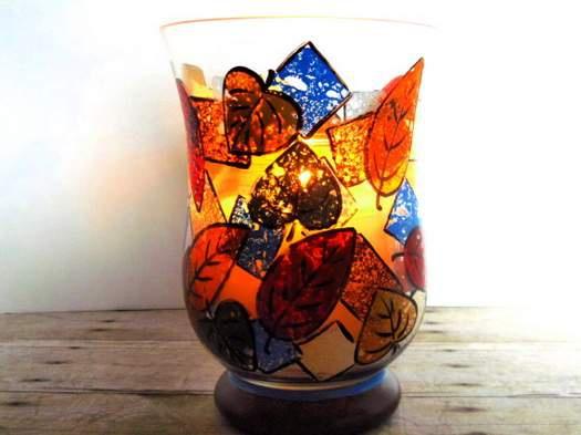 Как расписать стеклянную вазу губками
