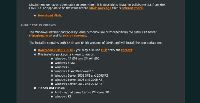 Загрузка GIMP