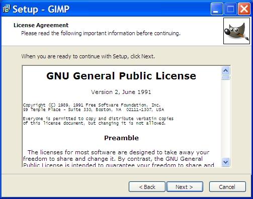 Установка GIMP
