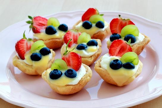 Как приготовить тарталетки с фруктами