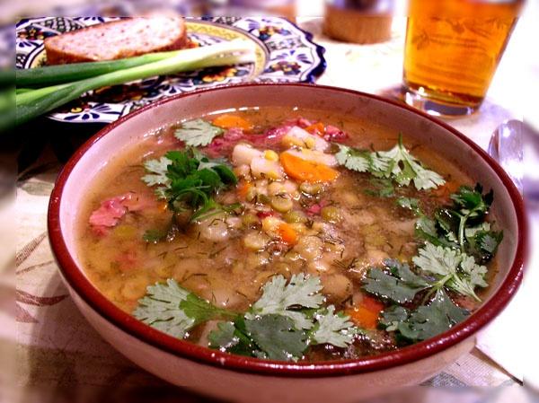 Гороховый суп с рыбой