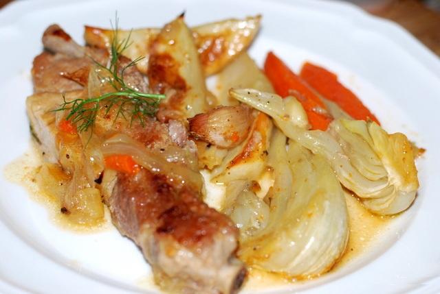 Говядина с фенхелем и картофелем