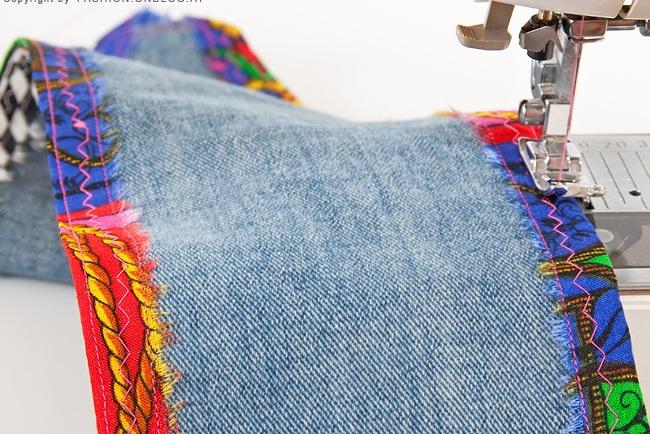 Как сделать пояс из старых джинсов
