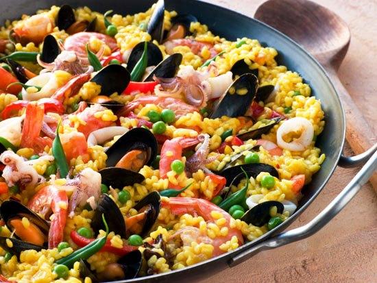 Как приготовить паэлью с морепродуктами