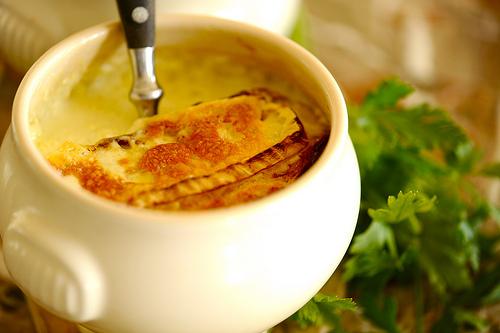 Сливочный суп с сыром бри