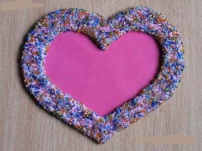Как сделать рамку для фото в форме сердца