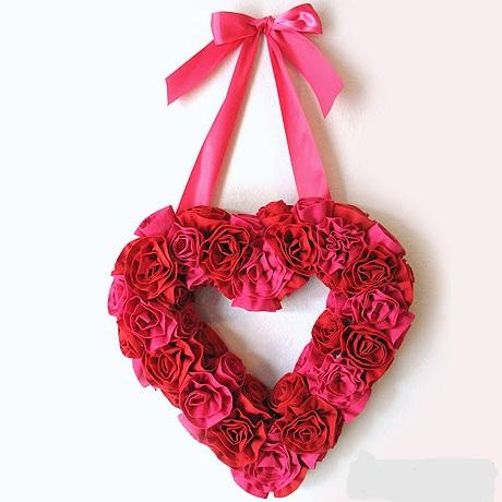 Как сделать венок в форме сердца