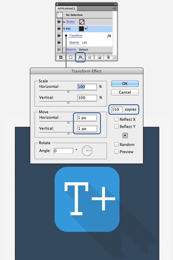 Как создать Long Shadow эффект в Adobe Illustrator
