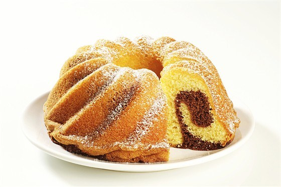 Ванильно-шоколадный мраморный пирог