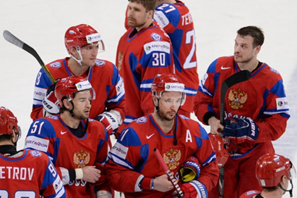 The national team of Russia on hockey