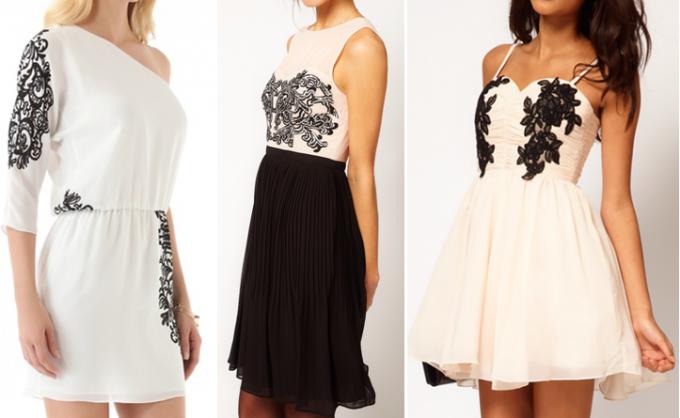 Платье, декорированное своими руками, это всегда стильно