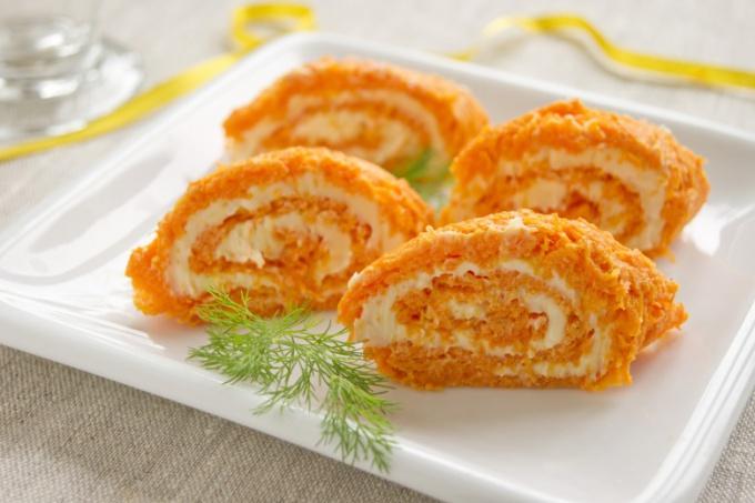 Рулет из моркови