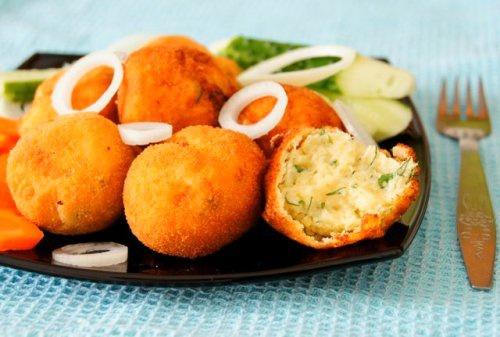 Хрустящий картофель в манке