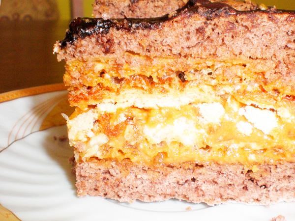 Медовый тортик с кремом из сгущенки