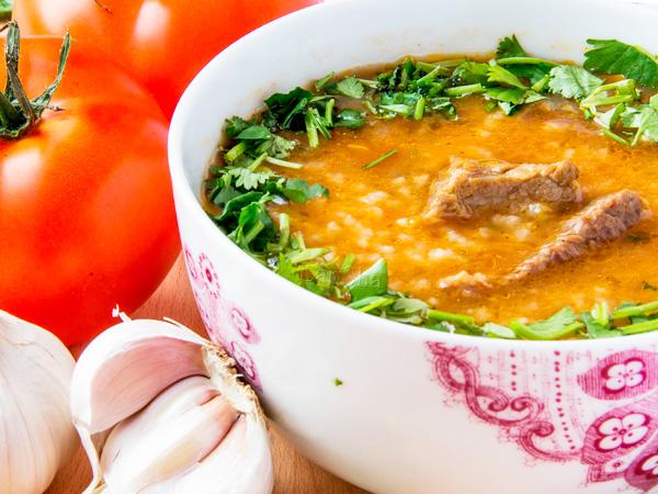 Грузинский суп с говядиной
