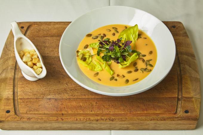 Крем - суп из тыквы «Яркое настроение»