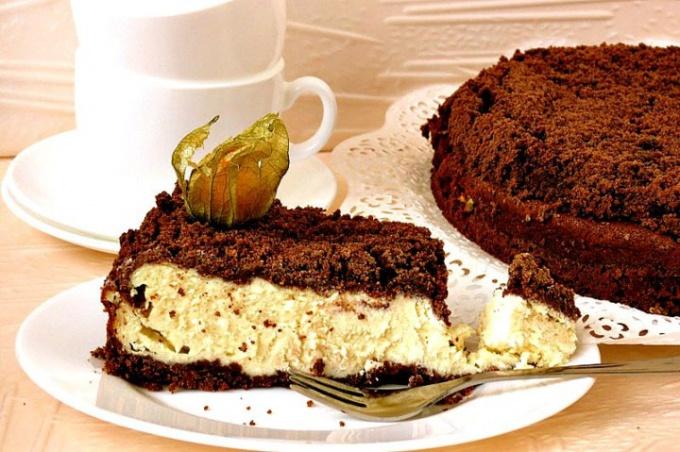 Пирог с творогом и шоколадом рецепт с