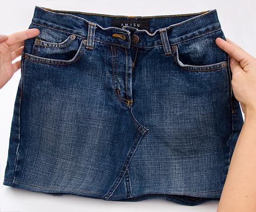 Юбки из джинса своими руками фото