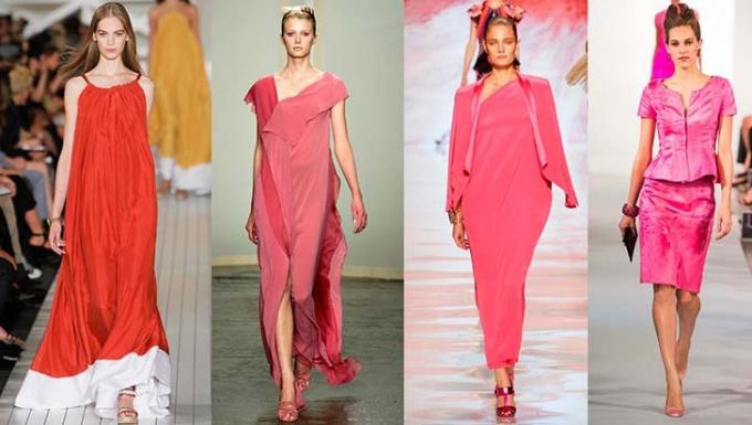 Модные оттенки розового