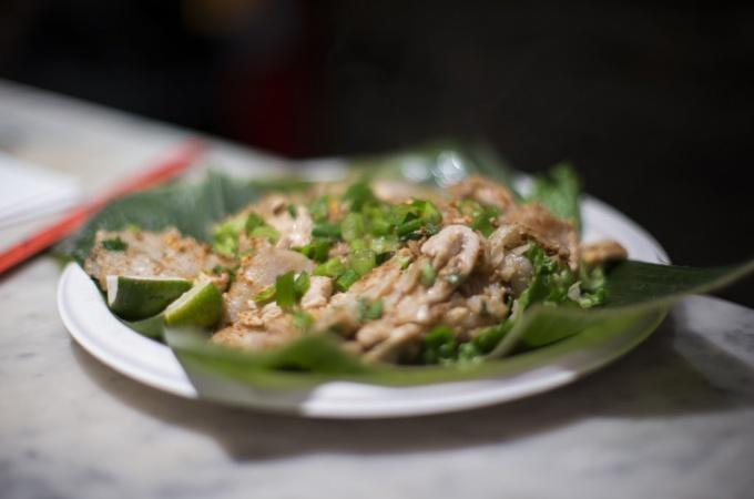 Каракатицу по-корейски принято подавать в засоленном виде