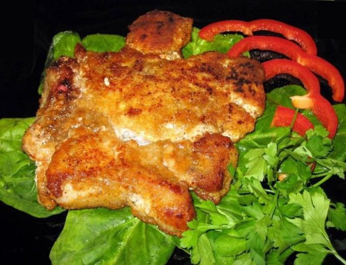 The veal chop