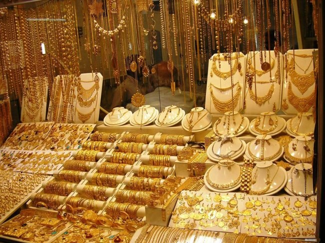 What dream lots of gold jewelry