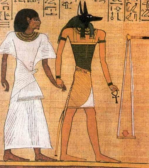 Анубис ведет Фараона на суд