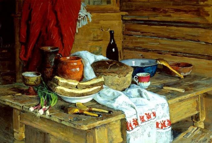 В.Ф. Стожаров «Натюрморт с хлебом»