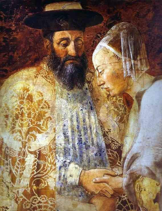 "The fresco ""King Solomon and the Queen of Sheba"", Piero della Francesca, 1452-1466"