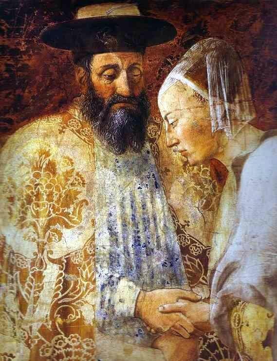 Фреска «Царь Соломон и царица Савская», Пьеро делла Франческа, 1452-1466