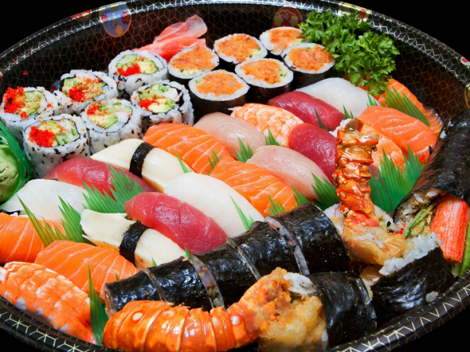 What are the types of sushi and rolls