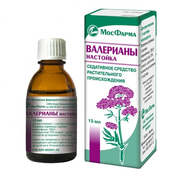 Sedative effect causing drugs on the basis of some plants, e.g., Valerian