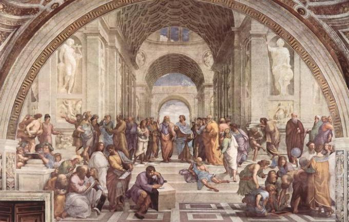 Фрески Рафаэля - яркий образец монументальной живописи