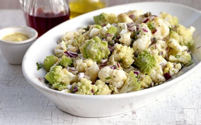 Рецепт салата из цветной капустой