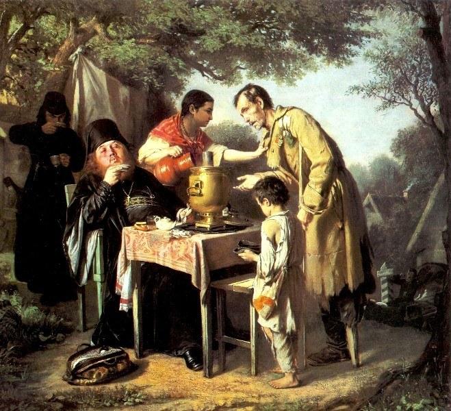 «Чаепитие в Мытищах, возле Москвы», В.Г. Перов, 1862