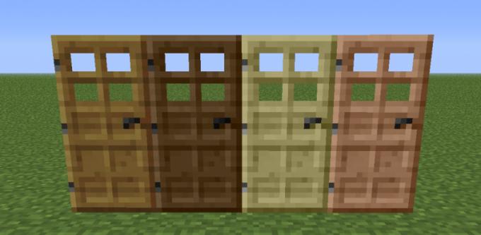 Как сделать обычную дверь в minecraft