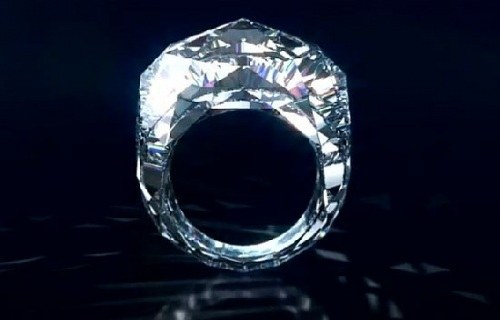 The ring is made of solid stone