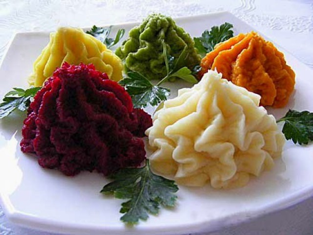 Цветные картофельные шарики