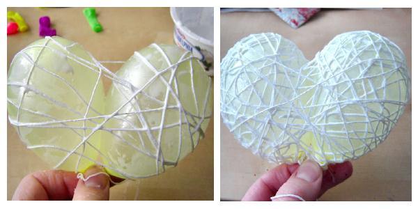 Как сделать шар из ниток и клея