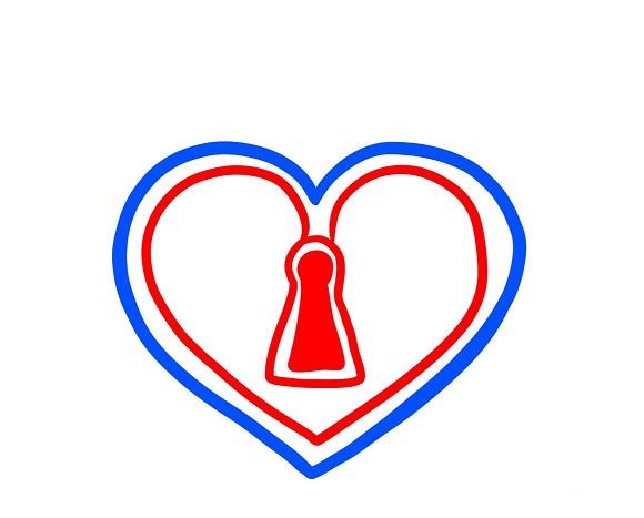 Как нарисовать сердце-дворец с цепью поэтапно