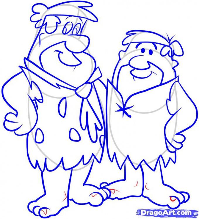 Как нарисовать Фреда и Барни поэтапно