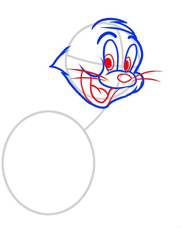 Как нарисовать Тома поэтапно