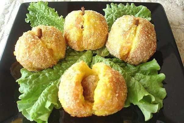 Персики из картофеля