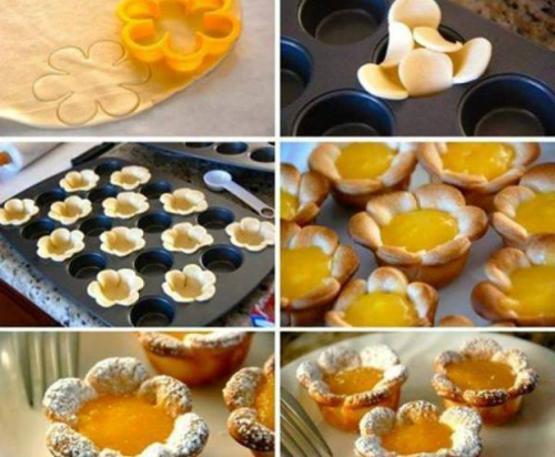 """Лимонные кексы """"Цветы"""""""