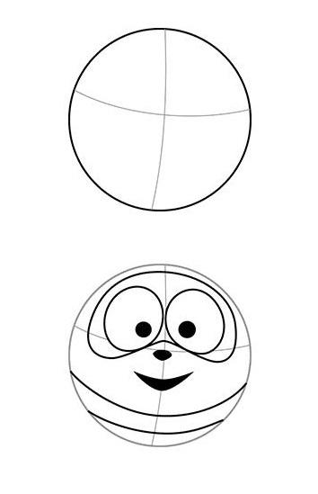 Как нарисовать смешарика Степаниду поэтапно