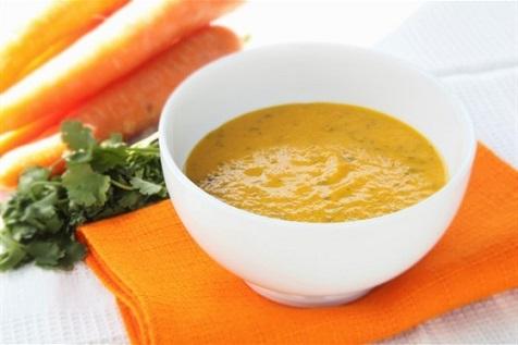 Морковный суп-пюре с красной чечевицей